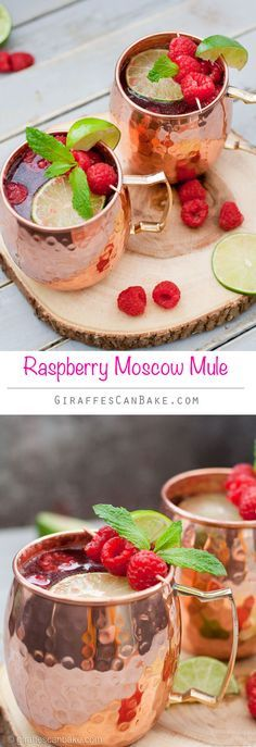 High quality vodka combined with spicy and bubbly ginger ale, fresh lime juice and sweet, tart raspberries in a cold copper mug. This Raspberry Moscow Mule is a summery twist on the classic cocktail.