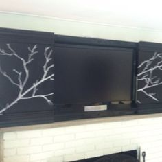 Flat screen tv frames on pinterest flat screen tvs tv for Hidden tv cabinets for flat screens