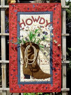 Western Welcome, dimensional wall quilt at Applepatch Designs