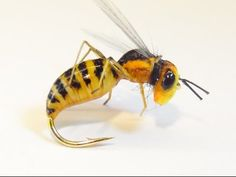 Perennially FLOATING Foam body Realistic WASPfly (very simple) - YouTube