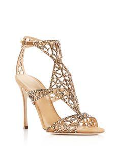 ae9c85310178 Sergio Rossi Swarovski Crystal Tresor Cutout High Heel Sandals - 100%  Exclusive Shoes - Bloomingdale s