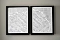 studiokmo San Francisco diptych art print $40 (buy matted frames separately, see link)
