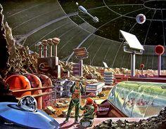 Lunar Dome Assembly by Klaus Burgle circa 1958