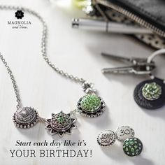 August birthstone. Snap customizable jewelry from Magnolia and Vine. magnoliaandvine.com