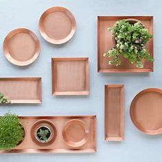 Polished Copper Tray, Rectangle in Sale SHOP Gardening at Terrain Tinta Spray Cobre, Indoor Watering Can, Copper Tray, Copper Planters, Copper Interior, Copper Decor, Monday Inspiration, Copper Accents, Copper Rose