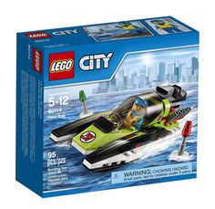 Make a big splash on race day! Rev up the engines in the Race Boat and get ready for the big race. Skim over the water as fast as you can, but look out for the buoys ahead. Race to win in LEGO® City!