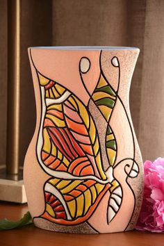Cuerda Seca Ceramic Clay, Ceramic Vase, Pottery Vase, Ceramic Pottery, Diy Bag Painting, Hand Built Pottery, Pottery Classes, Color Crafts, Sgraffito