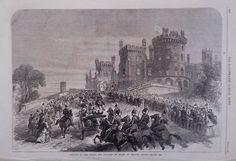 1866 PRINT ROYAL VISIT TO BELVOIR CASTLE