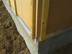 Détails de l'isolation extérieur, de la grille anti-rongeur et des tasseaux