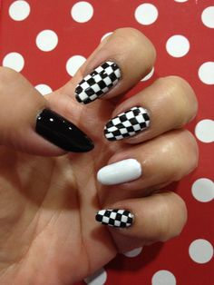 Checker Board Nail Art Konad Stamping Plates White Designs Cool