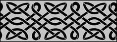 Celtic border stencils 2pgs