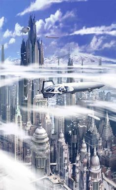 Futuristic City Concepts by Stephan Martiniere (American Zone)