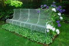 Clematis on the bench (I'm afraid the bench may be un-sittable in the end, but beautiful nonetheless).
