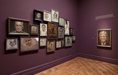 Excellent way to hang - Jonathan Yeo's work in the National Portrait Gallery, London.
