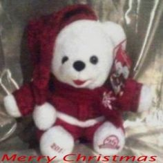 2011 Walmart Christmas Snowflake 12 inch Teddy Bear Boy Dan Dee 25th Anniversary White Bear
