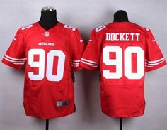 "$23.88 at ""MaryJersey""(maryjerseyelway@gmail.com) Nike 49ers 90 Darnell Dockett Red Team Color Men Stitched NFL Elite Jersey"