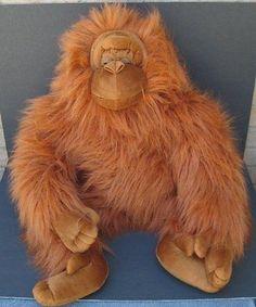 31 jumbo gorilla orangutan monkey brown hairy furry fat king plush