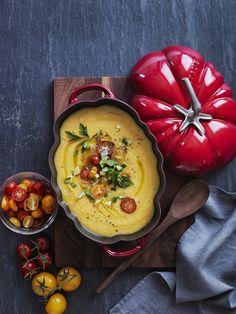 Yellow Tomato Gazpacho - Yellow tomatoes puts a fresh new spin on this Spanish classic!