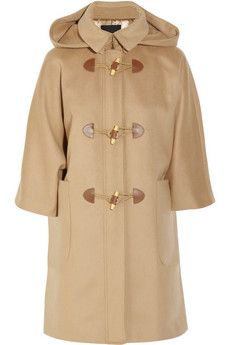 camel 3/4 sleeve with toggles duffle coat from j.crew