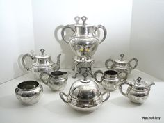 Coffee & Tea Silver Service, Full Set, Victorian Era