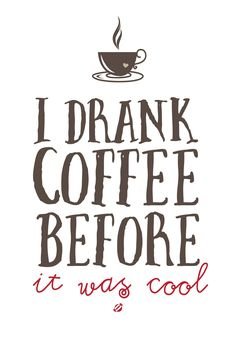 FREE printable funny coffee quote wall art | #LostBumblebee ©2014