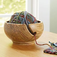 Spin a Yarn Bowl Woodworking Plan from WOOD Magazine Woodworking Lathe, Learn Woodworking, Woodworking Techniques, Popular Woodworking, Woodworking Crafts, Woodworking Furniture, Woodworking Workshop, Woodworking Patterns, Woodworking Machinery