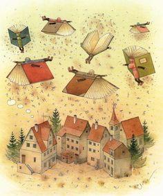 Трогательные и добрые акварельные рисунки литовского художника-иллюстратора…