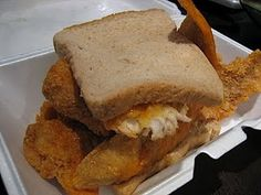 Jumbo Fish Sandwich from Horace and Dickies, Washington DC (Featured on Man vs. Food)
