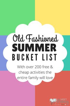 Wow! Over 200 boredom busters and free summer activities, 20 free printable packs, summer reading programs. This is the BEST Summer Bucket List ever!
