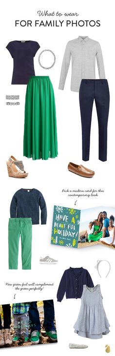 We're lending you a hand by crafting outfit ideas that show you what to wear for your family photos—click to see more outfit ideas!