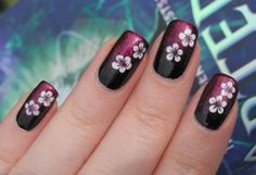 Dotting tool flowers - Nail Art