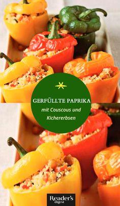 Gefüllte Paprika mit Couscous und Kichererbsen