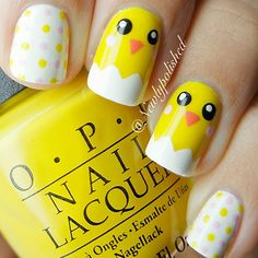 If you're looking for cute nail art designs for Easter, you're in the right place! Our collection of 32 Easter nail designs will certainly inspire you and stimulate your creativity. Your nails shouldn't be ignored this year. Pastel Nail Art, Yellow Nail Art, Cute Nail Art, Cute Nails, Easter Nail Designs, Nail Designs Spring, Cute Nail Designs, Nail Designs For Kids, Nails For Kids