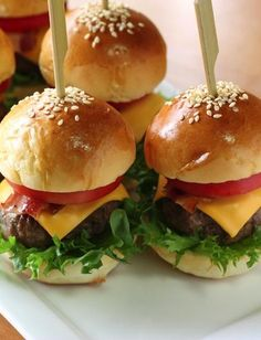 Make these Skinny Mini Burgers for game day!