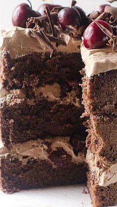 Chocolate Cherry Amaretto Cake