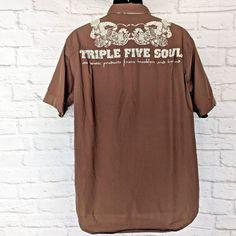 45e2e17f07847 Triple Five Soul Men s Military   Cargo Shirt Size Large Button Up short  Sleeve  TripleFiveSoul