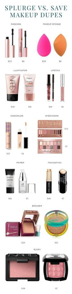 Splurge or Save? 10 Makeup Dupes and their high-end counterparts.