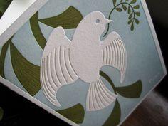 Last year's letterpress Christmas card. Peace.