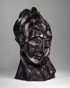 """""""Head of a Woman"""" -- 1909 -- Pablo Picasso -- Spanish -- Bronze -- Metropolitan Museum of Art. Pablo Picasso, Kunst Picasso, Art Picasso, Cubist Sculpture, Sculpture Metal, Dali, Cubist Paintings, Cubist Movement, Celtic"""