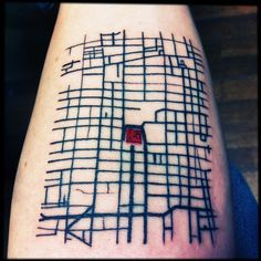 idea for NYC tattoo?] My first Tattoo, it´s a Mexico´s city downtown representation (I am an architect from Mexico). Richard at Ganeshstudio did it. I love the final result! Map Tattoos, Cool Tattoos, Downtown Mexico City, Valentines Sweets, Kids Valentines, City Tattoo, Nyc Tattoo, Tatoo Art, Tattoo Ink
