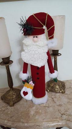 Felt Christmas Decorations, Christmas Tree Toppers, Christmas Stockings, Holiday Decor, Christmas Mom, Christmas Crafts, Xmas, Christmas Ornaments, Santa Crafts