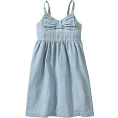 Old Navy Girls Chambray Sundresses (€20) ❤ liked on Polyvore featuring dresses, vestidos and girls