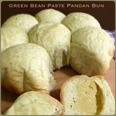 My Mind Patch: Rice Cooker Green Bean Paste Pandan Bun 电饭锅绿豆沙香兰面包...