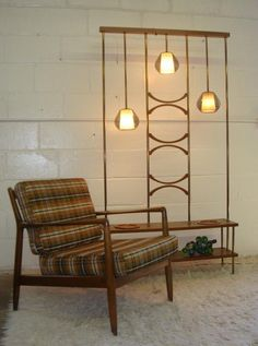 Great lighted plant pot and shelf room divider