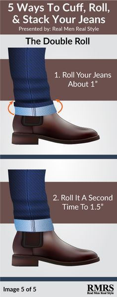 Stacking vs Cuffing vs Rolling Your Jeans   The Right Way To Wear Your Dress Boots