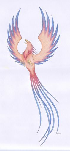 I drew a pheonix exactly like this one a couple years ago and decided I wanted it tattooed on my self harm scars with a white ink tattoo saying faith/ hope between its wings.