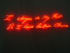 I Whisper To My Past, Do I Have Another Choice - Tracey Emin (2010)