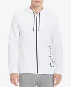 Calvin Klein Men's Logo Full-Zip Hoodie, Created for Macy's - Black XXL