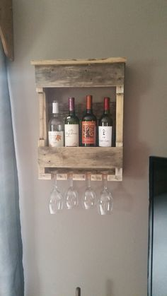 Small wine rack. Dimensions 24x24 **All items are one of a kind creations and can vary from the picture, however the concept is the same.**