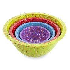 Bed Bath and Beyond: Zak! Designs® Confetti 4-Piece Assorted Mixing Bowl Set - Kiwi $29.99